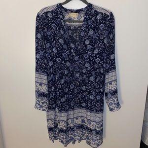 Altar'd State Blue Floral Dress Size Medium